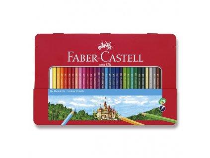 Pastelky šestihranné - 36 barev, plechová krabička