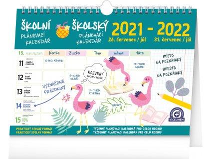 Školní plánovací kalendář s háčkem 2022, 30 × 21cm