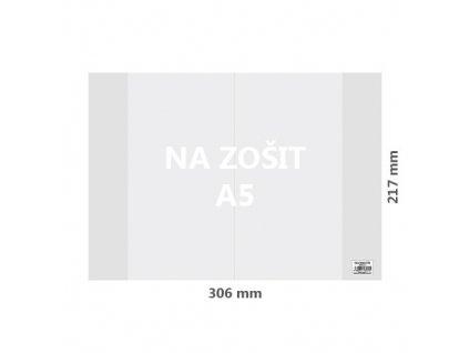Obal na sešit A5 PVC 306x217 mm