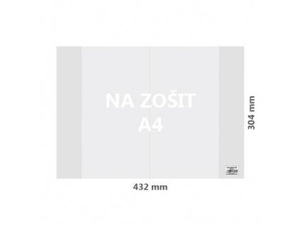 Obal na sešit A4 PVC 432x304 mm, transparentní