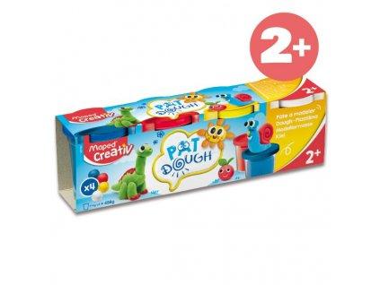 Modelovací hmota Maped Creativ - 4 barvy, 120 g