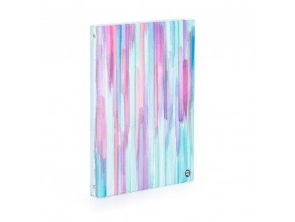 Kroužkový záznamník - KARIS A4 plast Colorbrush