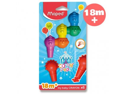 Pastely Maped Color´Peps Baby Crayons - 6 barev