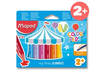 Voskovky Maped Color Peps Wax Jumbo 12 barev