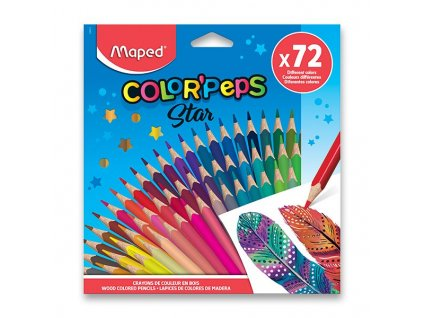Pastelky Maped Color'Peps - 72 barev