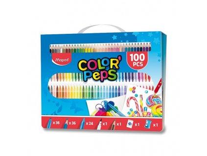 Vytvarna souprava Color Peps Box 100 ks