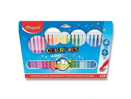 Dětské fixy Maped Color'Peps Long Life - 24 barev