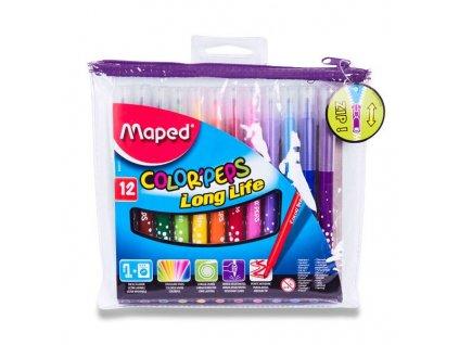 Dětské fixy Maped Color'Peps Long Life - 12 barev