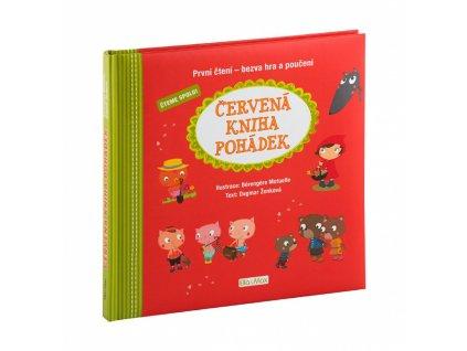PRESCO GROUP Červená kniha pohádek, první čtení - bezva hra a poučení