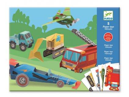 DJECO Origami skládačka - Dopravní prostředky