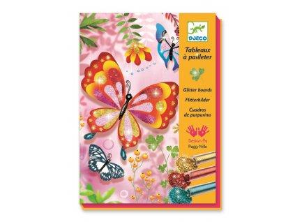 DJECO Kreativní sada - Třpytiví motýlci