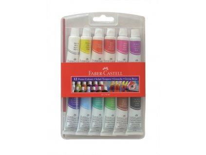 Faber-Castell Temperové barvy v tubě 12 barev, 12ml