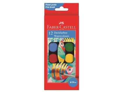 Vodové barvy 30mm, 12 barev