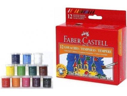 Faber-Castell Temperové barvy 15ml 12 barev
