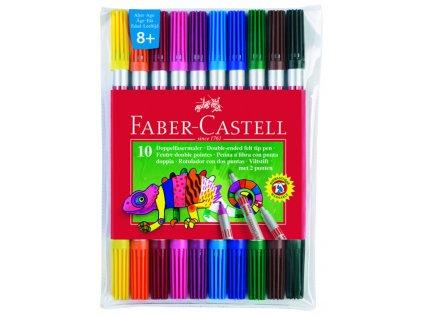 Faber-Castell Popisovače oboustranné 10ks