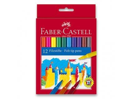 Faber-Castell Popisovače kulaté, pap.krabička 12ks