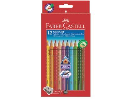Faber-Castell Pastelka JUMBO GRIP 12ks + ořezávátko