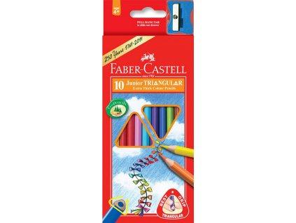 Faber-Castell Pastelky tříhranné JUMBO, pap.krabička 10ks