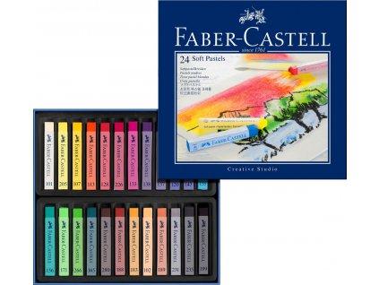Faber-Castell Suché křídy, pap.krabička 24ks