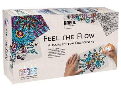 C.KREUL <br>Sada barvy na sklo pro dospělé - antistresové Feel the flow