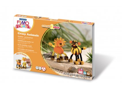 STAEDTLER FIMO kids sada Create and Play LEV a TYGR