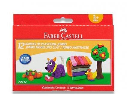 Faber-Castell Modelovací hmota JUMBO, 12ks/barev