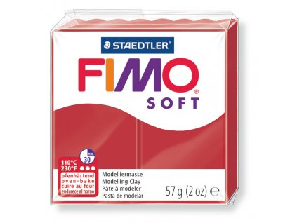 STAEDTLER FIMO soft vánoční červená 57g