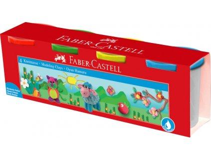 Faber-Castell Modelovací hmota 4 barvy po 440g