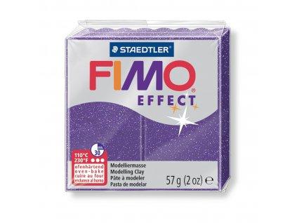 STAEDTLER FIMO efekt fialová se třpytkami 57g