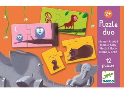 DJECO Duo puzzle - Najdi mládě