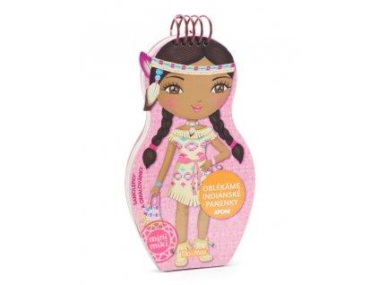 PRESCO GROUP Oblékáme indiánské panenky Aponi - omalovánky