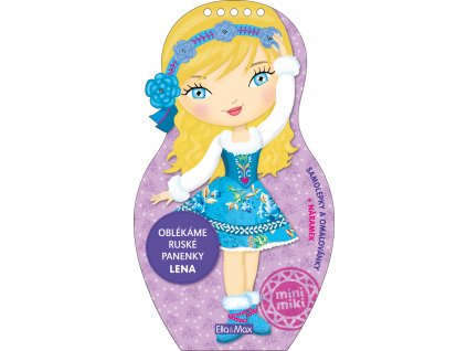 PRESCO GROUP Oblékáme ruské panenky LENA - omalovánky