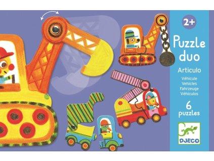 DJECO Duo puzzle - Autíčka v pohybu
