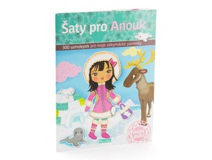 PRESCO GROUP Šaty pro Anouk - kniha samolepek