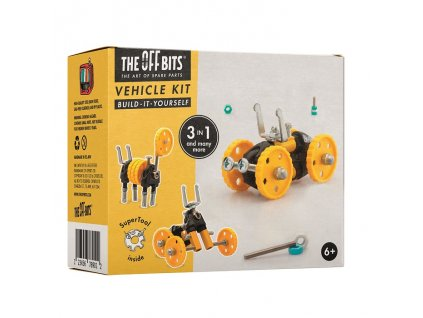 The OffBits Stavebnice - Autíčko YellowVehicle