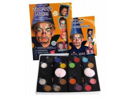 EULENSPIEGEL Profesionální sada barev na obličej v paletě - Magické masky