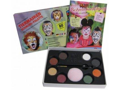 EULENSPIEGEL Sada barev na obličej v paletě - Zvířecí masky