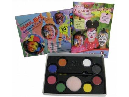 EULENSPIEGEL Sada barev na obličej v paletě - Rodinné balení