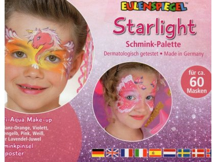 EULENSPIEGEL Sada barev na obličej v paletě - Starlight