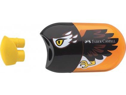 Faber-Castell Ořezávátko Eagle dvojité+stěrací pryž+zásobník