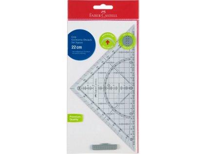 Faber-Castell Pravítko plastové GRIP, trojúhelník 22cm