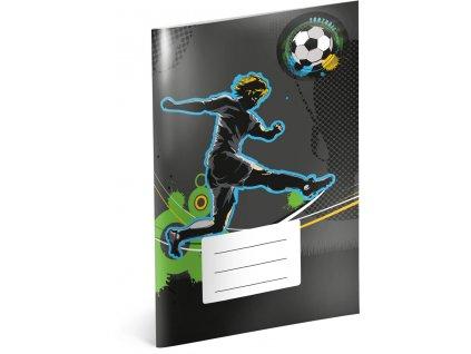 Školní sešit - Fotbal, A4, 40 listů, nelinkovaný