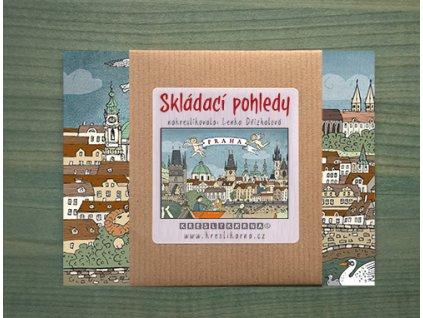 KRESLÍKÁRNA Skládací pohledy - Skládací pohledy - Praha - Panorama