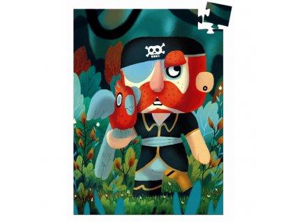 DJECO Mini puzzle  - Pirát Sam 60 dílků