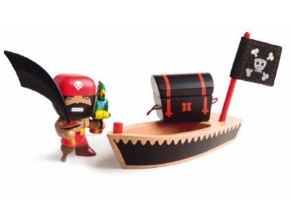 DJECO Pohyblivá figurka - Pirát El Loco