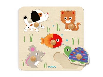 DJECO Vkládací puzzle - Želva a přátelé