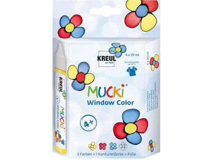 C.KREUL Sada Barva na sklo MUCKI WINDOW COLOR 29 ml v tubě 4 barvy