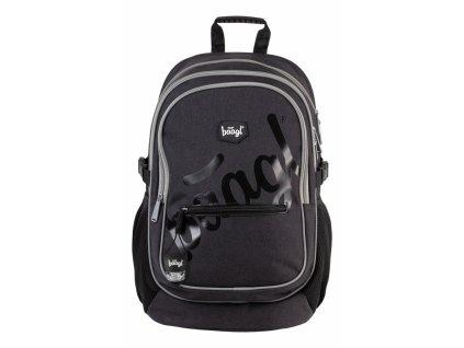 BAAGL Školní batoh Logo black