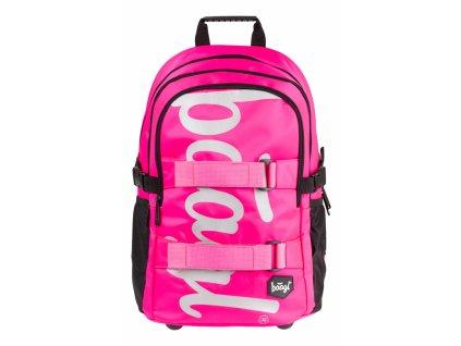 BAAGL Školní batoh skate Pink
