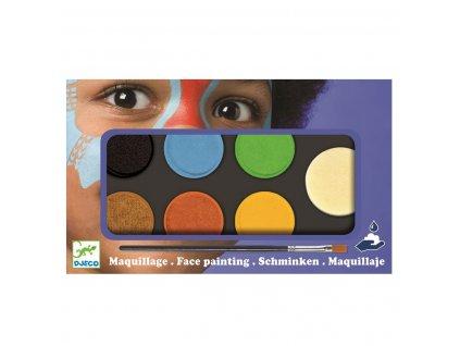 DJECO Barvy k malování na obličej - přírodní odstíny